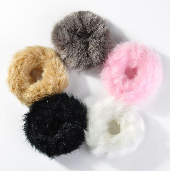 Girl Fluffy Faux Fur Hair Bands Ring