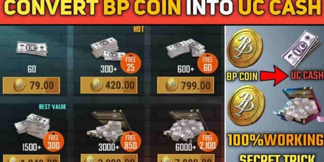 How to convert you PUBG Mobile BP Coins into UC